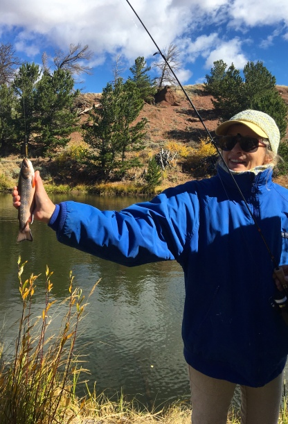 Barbara's first trout