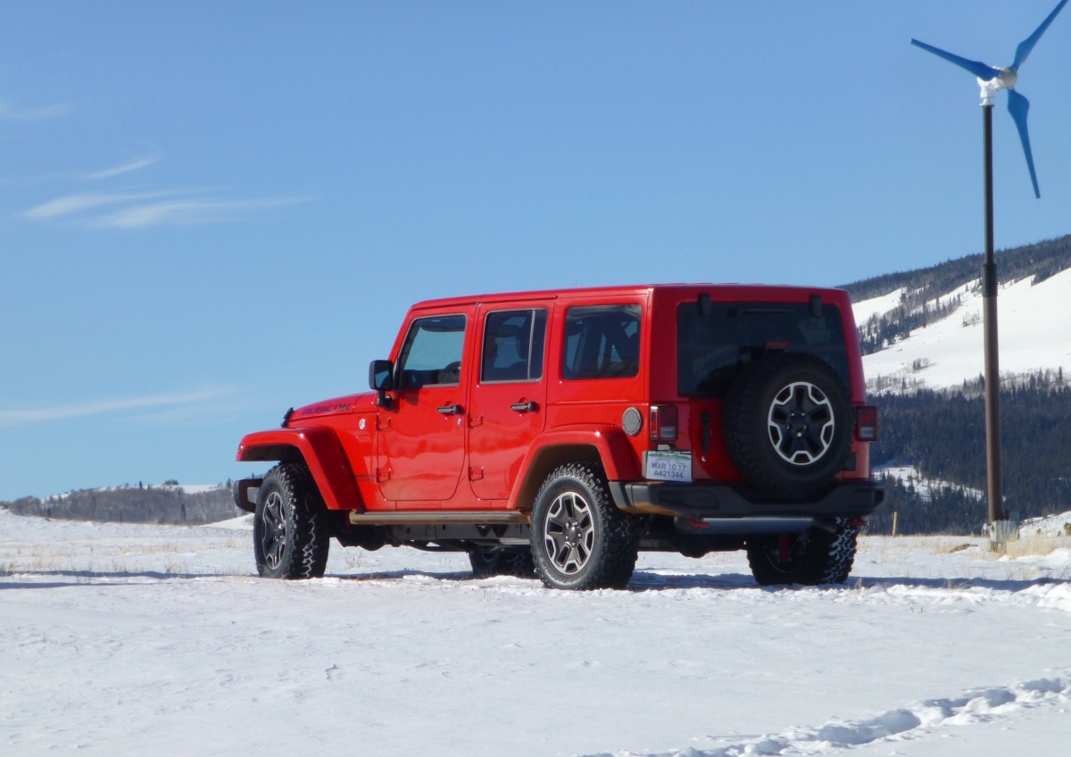 "My new ""firecracker red"" baby, the off-road champ, a Jeep Wrangler Rubicon…."