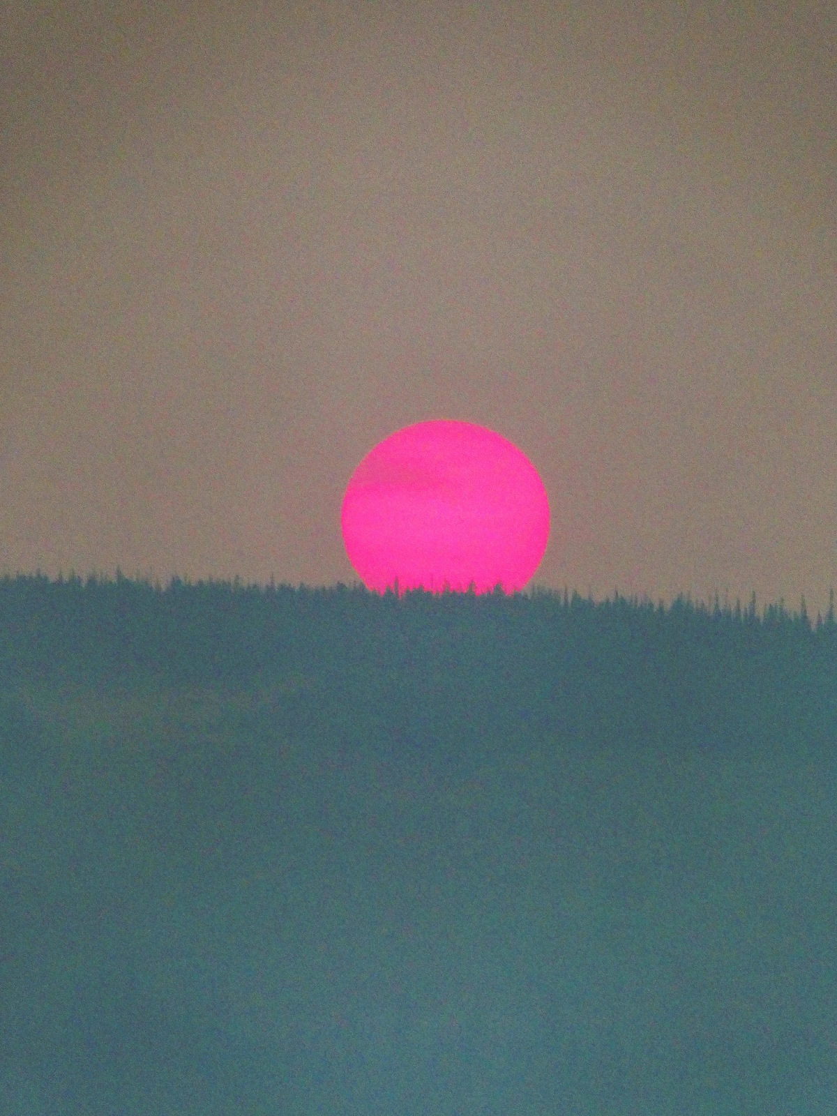 Sunset Through Wildfire Smoke….
