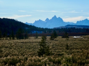 Grand Tetons in the distance