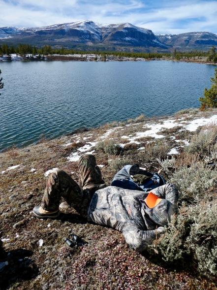Catching a nap at Bridger Lake